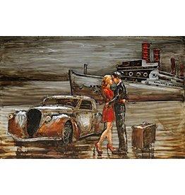Eliassen Gemälde aus Metall 80x120cm Quay