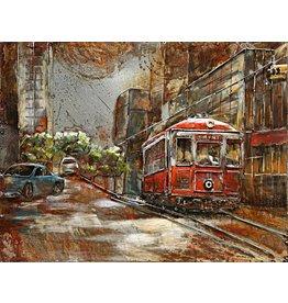 Eliassen Metal painting 3d 60x80cm Tramway