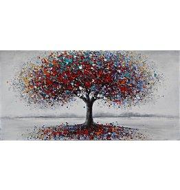 Olieverf schilderij 120x60cm Red