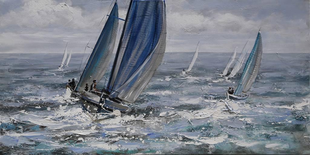 Öl auf Leinwand Malerei 120x60cm Rau