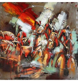 Metal 3d painting 100x100cm Orchestra