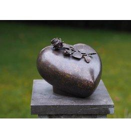 Eliassen Urn bronze with rose
