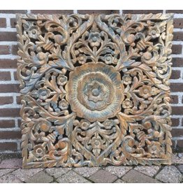 Wandpaneel hout vierkant 75cm
