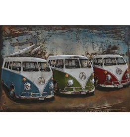 3d painting 120x80cm 3 buses