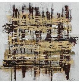 Eliassen Leinwandbild 100 x 100cm Streifen