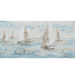Canvas painting 140 x 70cm Ocean blue