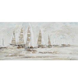 Canvas painting 140 x 70cm Ocean dark