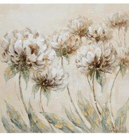 Canvas painting 60 x 60cm Dahlia 1