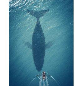 Dibond painting 118 x 70 cm Whale