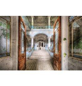 Eliassen Photo back glass painting Open doors