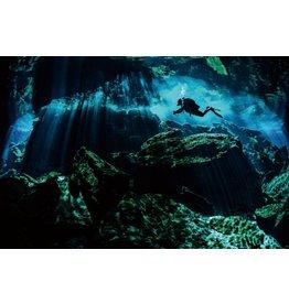 Schilderij glas foto Grot 80x120cm