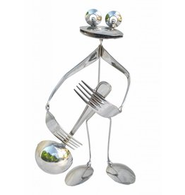 Frog figure stainless steel Cliff the bass player