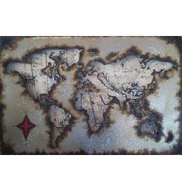 Eliassen Metal painting 40x60cm Globe 7
