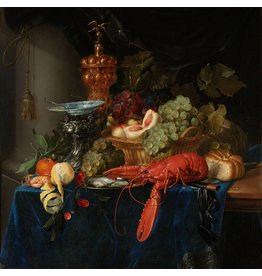 Dibond painting Still life with golden goblet