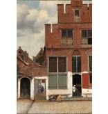 Dibond schilderij 148x98cm Straatje in Delft