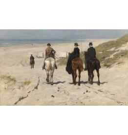 Malerei Dibond Morgen-Fahrt auf dem Strand