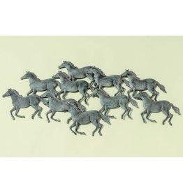 Wanddecoratie 3d Paarden