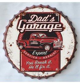 Wall decoration beer cap Dad's