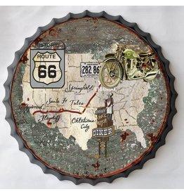 Wanddekorationen Bierflasche Kappe USA