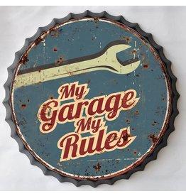 Wall decoration beer cap My Garage