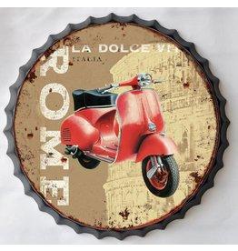 Wall decoration beer cap Vespa