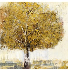Canvas painting Birch 100x100cm