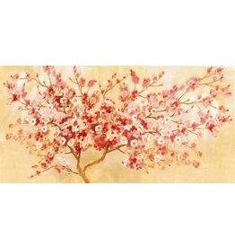 Olieverf schilderij Lente 60x150cm