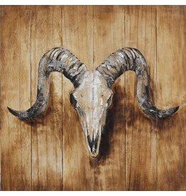 Eliassen Olieverf schilderij Steenbok 60x60cm