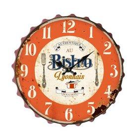 Eliassen Wall clock beer cup Bistro