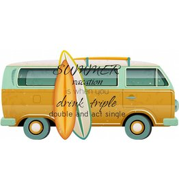 Deco Wand VW Bus mit Surfbrett