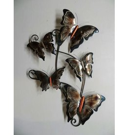 Metallwanddekoration Schmetterlinge