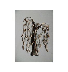 Wall decoration metal 3d Weeping willow