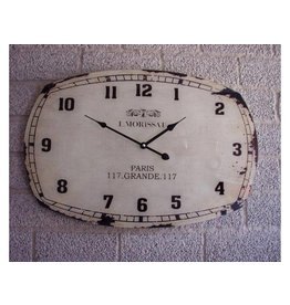 Eliassen Wall clock glass L. Morissat