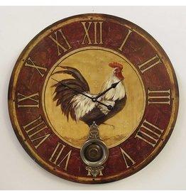 Eliassen Wall clock with clapper Chicken