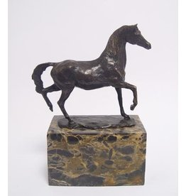 Bronze horse on pedestal
