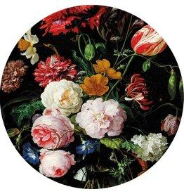 MondiArt Glas schilderij Bloemen rond dia 60cm