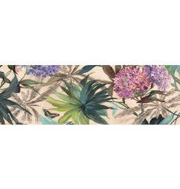 MondiArt Glas-schilderij Bloemen 50x150cm