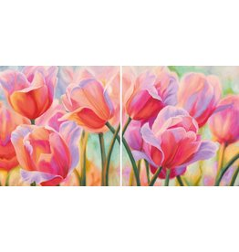 MondiArt Tweeluik glas Tulpen