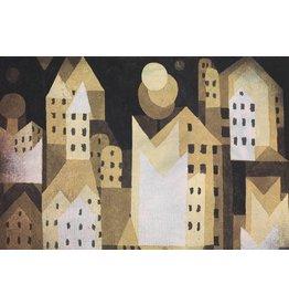 MondiArt Dibond schilderij Moderne stad  80x160cm