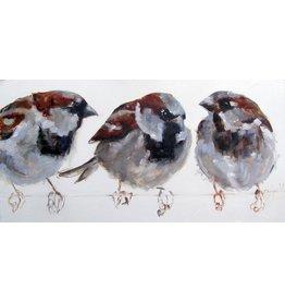 Eliassen Painting Dibond Sparrows 60x120cm
