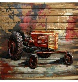 Ter Halle 3d schilderij metaal-hout  Oldie 80x80cm