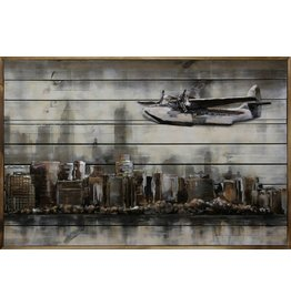Ter Halle 3D-Malerei Metall-Holz Above NY 80x120cm