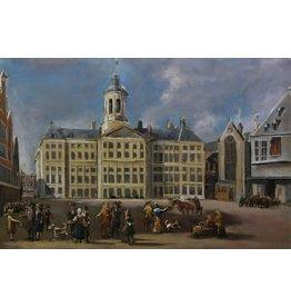 Schilderij 3d  Het stadhuis op de dam 80x120cm
