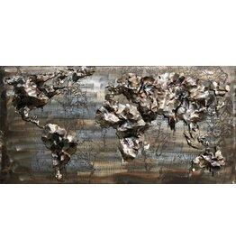 3D painting iron 60x120cm World map 10