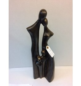 Bronze-Skulptur Familie 2 Kinder