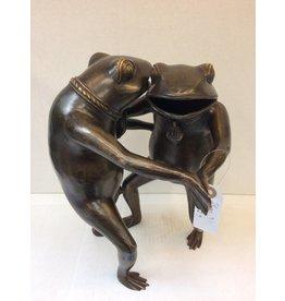 Eliassen Bronze statue Dancing frogs
