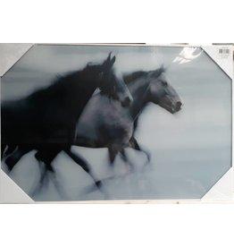 MondiArt Glass painting 2 Horses 60x90cm