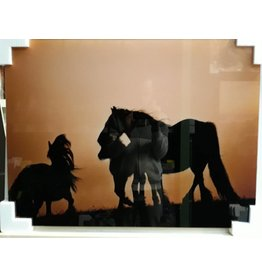 MondiArt Glass painting Horses 60x80cm