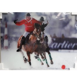MondiArt Glass painting Polo player Solo 60x80cm