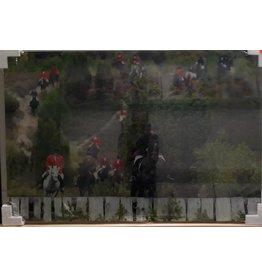 MondiArt Painting glass Fox hunting 120x80cm